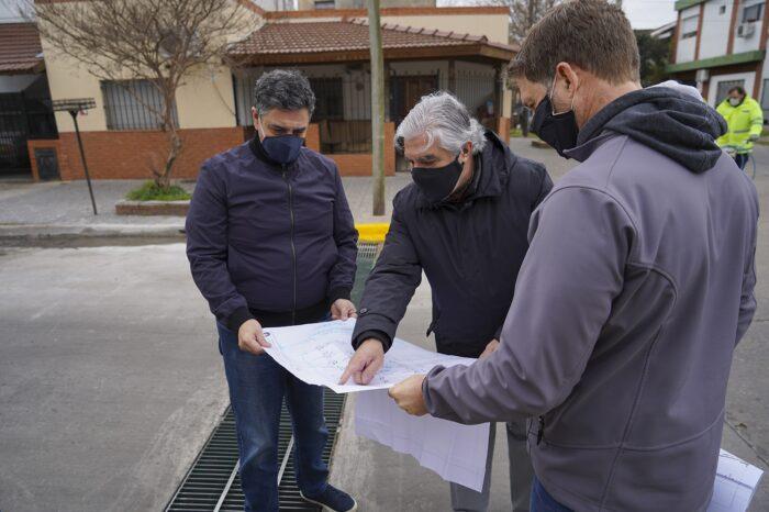 Jorge Macri recorrió la primera etapa de las obras hidráulicas de Florida Oeste