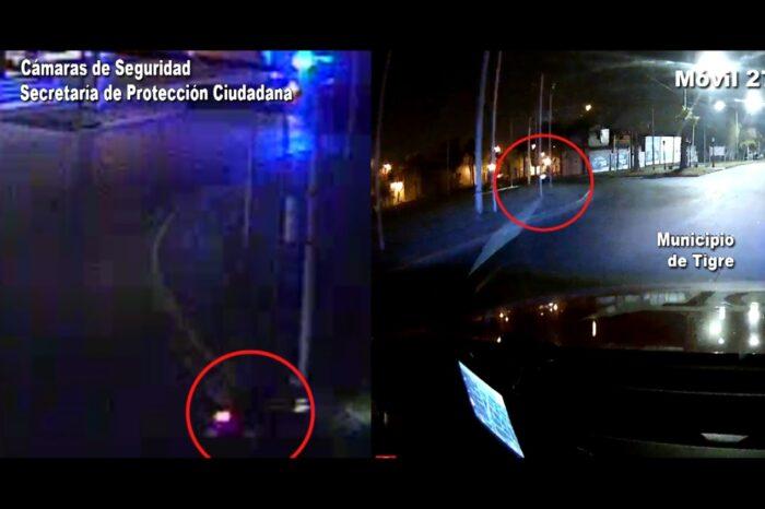 Las cámaras del COT registraron el violento choque de un motociclista