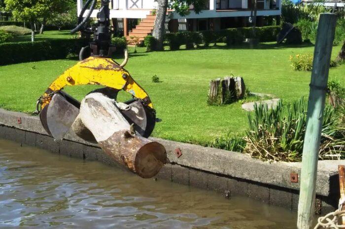 Continúan los trabajos de mantenimiento en el Delta de Tigre mientras se pone el foco en la Ley de Humedales