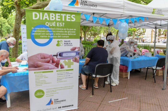 Conocé las actividades que se realizaron en San Fernando por el Día Mundial de la Diabetes