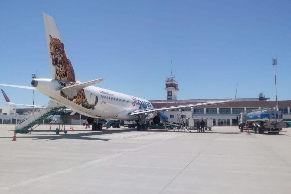 Jet Smart retomó los vuelos directos a Neuquén desde Rosario