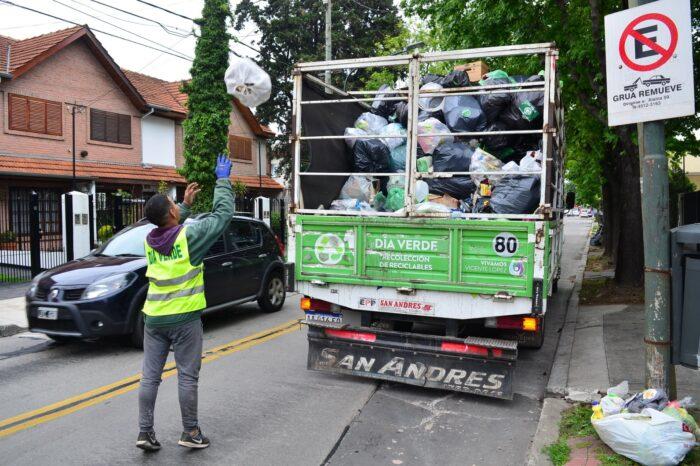 Mira los detalles del servicio de recolección y día verde durante las fiestas en Vicente López