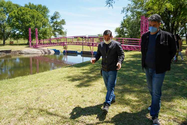 Jorge Macri visitó a emprendedores de Capitán Sarmiento junto a Javier Iguacel