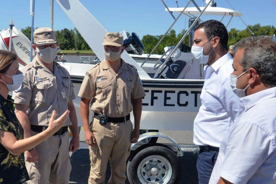 Presentaron las nuevas embarcaciones de la Prefectura Naval en un acto en San Fernando