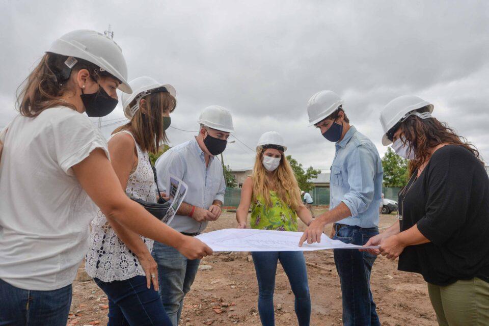 Juan Andreotti supervisó las obras en la nueva Escuela municipal de oficios