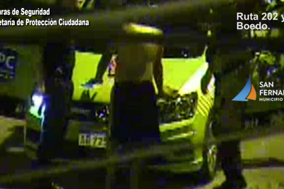 Cámaras de Seguridad de San Fernando ayudaron a detener a un ladrón