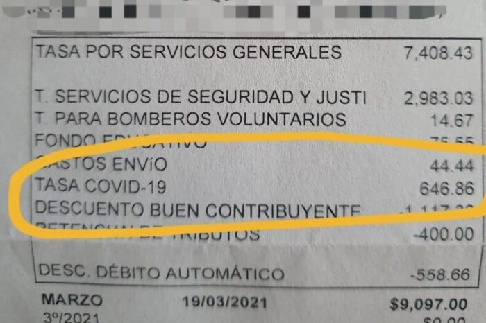 """Impuesto """"COVID-19"""" en Pilar: agregaron la cobranza de una tasa por la pandemia"""