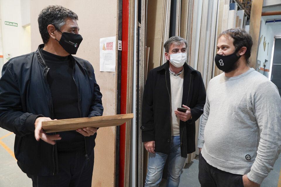 Jorge Macri visitó una fábrica de Munro y aseguró que las pymes son motores productivos y fuentes de trabajo en Argentina