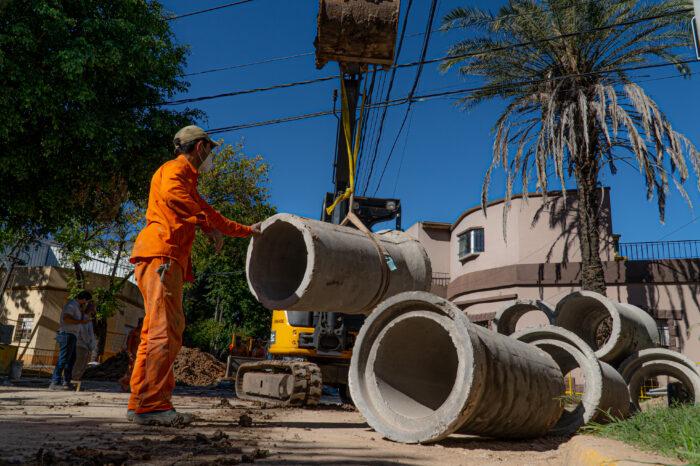 Conocé el detalle de los avances de la obra hidráulica en Florida Oeste