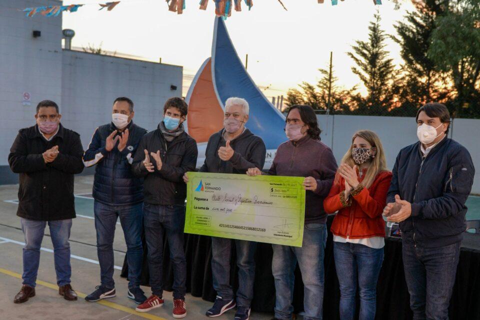 Juan Andreotti entregó subsidios a instituciones sanfernandinas