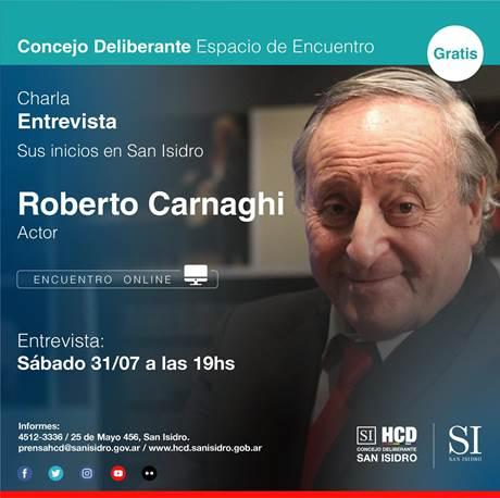 Ciclo de charlas virtuales: Roberto Carnaghi y sus inicios en San Isidro