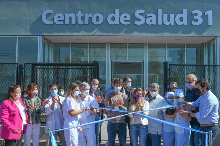 Andreotti inauguró el nuevo Centro de Salud 31 junto a Katopodis, Kreplak y Gollán