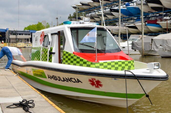 Se sumó una nueva lancha ambulancia al sistema de salud municipal de Islas de San Fernando
