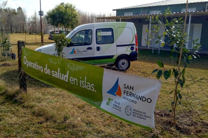 El Municipio de San Fernando llevó adelante un operativo integral de Salud y Zoonosis en el Delta
