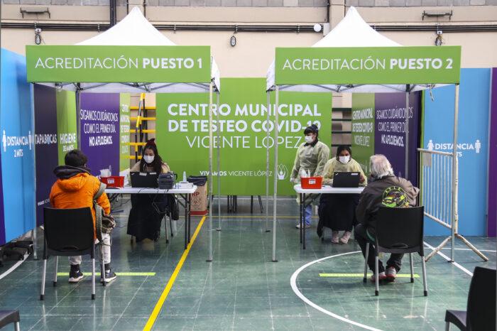 Vicente López continúa testeando a personas con síntomas para frenar el COVID-19